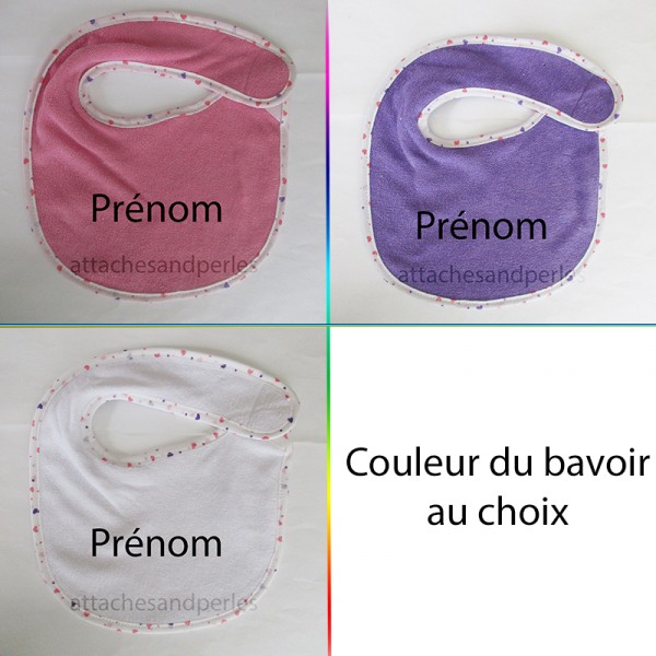Bavoir fille personnalisable - Attaches And Perles