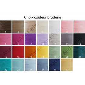 Couverture blanche zebre personnalisable - Attaches And Perles