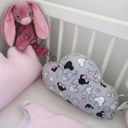 Gigoteuse et/ou tour de lit 5 coussins nuages et mickey - Attaches And Perles
