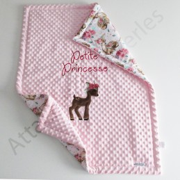 Couverture minky coton personnalisable - Attaches And Perles