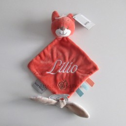 Doudou oscar le renard personnalisable - Attaches And Perles
