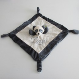 Doudou panda personnalisable - Attaches And Perles