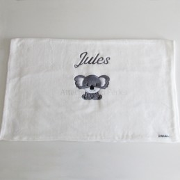 Couverture blanche koala personnalisable - Attaches And Perles