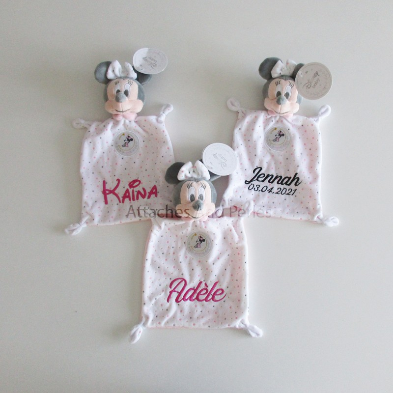Doudou minnie personnalisable - Attaches And Perles